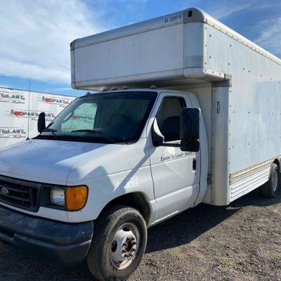 78  2006 E-450 15' Box Van, See Video! Sold on non-op This vehicle is being sold on Non-Op. Truck drives but will need a new Catalytic...