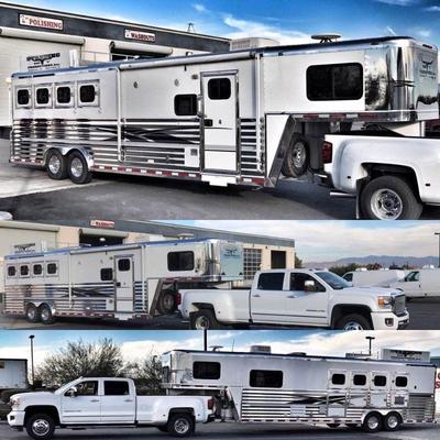 50  Bloomer 2003-4-horse 11' Short Wall LQ Horse Trailer with back tack Bloomer 2003 4-horse Living Quarters Horse Trailer.  Trailer is...