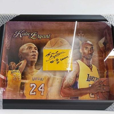 2271  Signed Kobe Bryant Shadow Box - Has COA Measures Approx 24