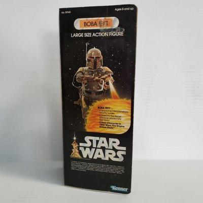 2056  New In Box Star Wars Boba Fett Large Size Action Figure New In Box Star Wars Boba Fett Large Size Action Figure