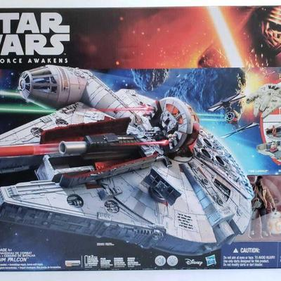 2001  Star Wars The Force Awakens Millenium Falcon Model B3678 New In Box, Factory Sealed.