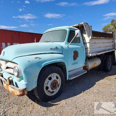 Lot 520: 1955 Ford F600 Dump Truck  VIN: F60Z5L11972