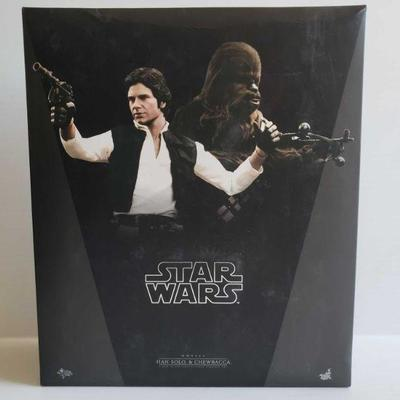 1203  Star Wars Han Solo And Chewbacca 1/6th Scale Collectible Figures Set Model MMS263. New In Box.