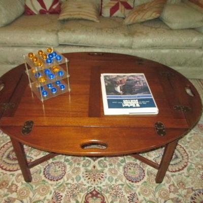 Hinged Mahogany Butler's Tray Table