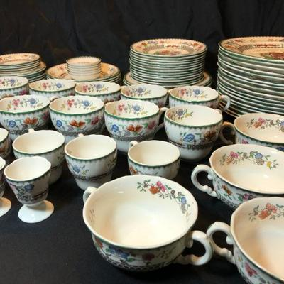 Large service of Spode Chinese Rose China service.