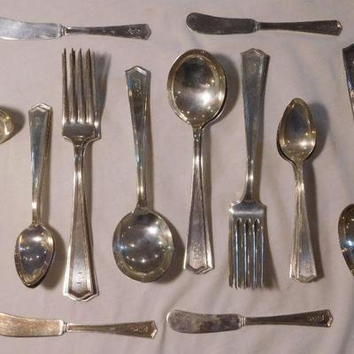 J.S. Co. Sterling Flatware -- 35 Pieces
