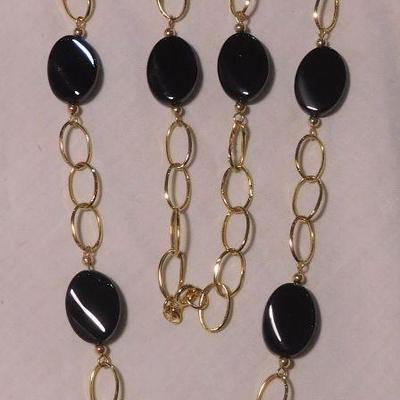 14 k Onyx Necklace