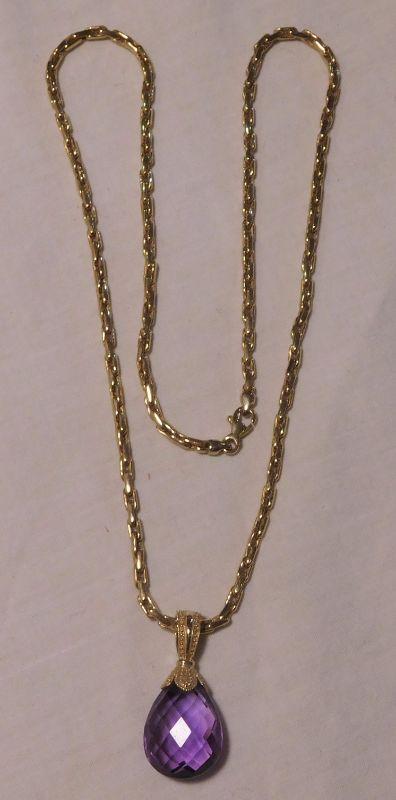 14 k Amethyst Necklace