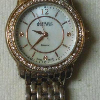 August Steiner Diamond Watch
