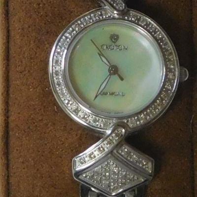 Croton Diamond Case Watch