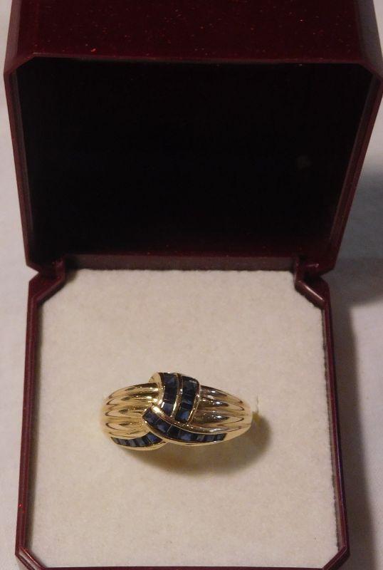 14 k Sapphire Ring