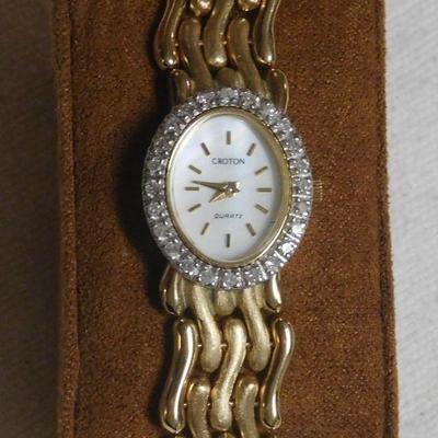 Croton 14 k Diamond Watch