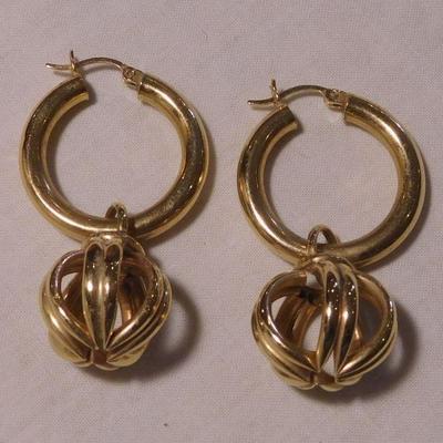 14 k Earrings