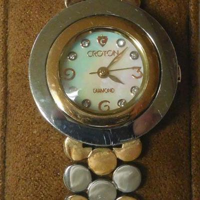 Croton Diamond Dial Watch