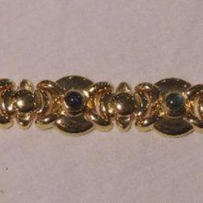 14 k Multi Stone Bracelet