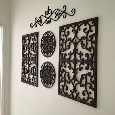 5 piece metal wall art $40