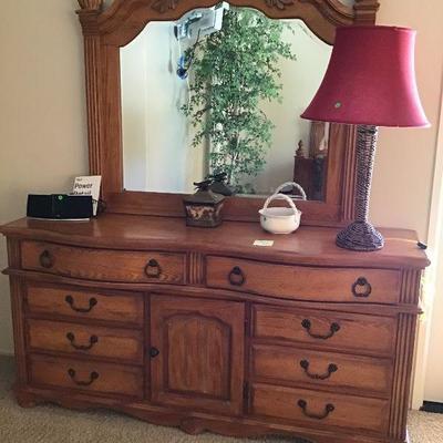 Dresser and mirror $185