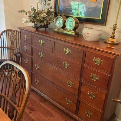 Chippendale style butlers desk/ cabinet