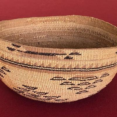 Hupa Native American basket hat