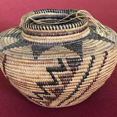 Yokuts polychrome basket