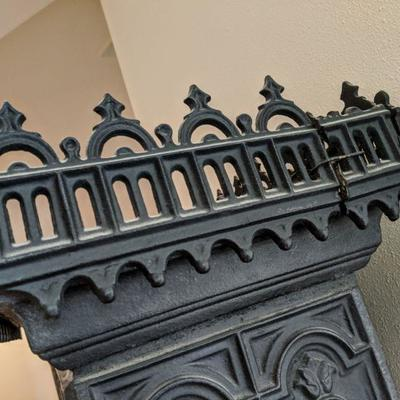 Scandinavian Cast Iron Stove  beautiful cast floral and pierced patterns in the gothic style  23