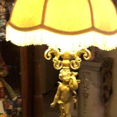 WL5009 https://www.ebay.com/itm/124268088745 WL5009: Brass Cherub Table Lamp Local Pickup Auction  Starts After 6PM 07/22/2020