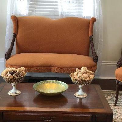 PR0100 https://www.ebay.com/itm/114314493836 PR0100: Rococo Style Settee Set / Pallor Chairs and Sofa Local Pickup Auction  Starts After...