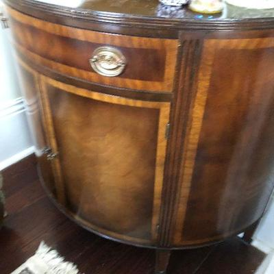 PR0112 https://www.ebay.com/itm/114314504143 PR0112: French Revival inlaid Carved Walnut Hall / Accent Cabinet 19th C Local Pickup...