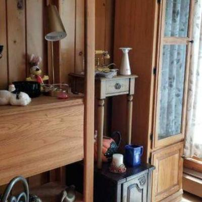 Curio, shelves, 1 drawer stand