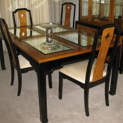 Thomasville dining room table with chairs and leaves and pads BUY IT NOW    $225.00