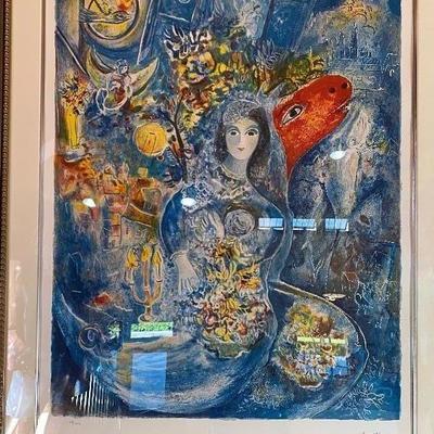 """Marc Chagall lithograph, #43/375 Frame: 43"""" x 53"""", art: 32"""" x 42"""""""