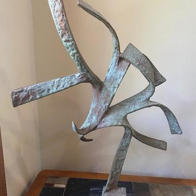 Metal modern sculpture