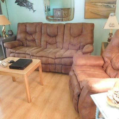 Living Sofa and Loveseat