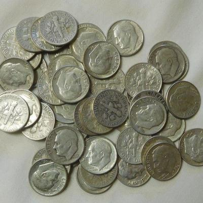 49 Roosevelt Silver Dimes