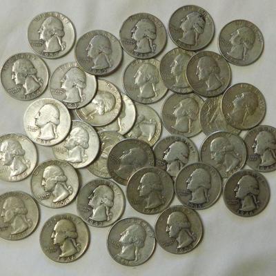 33 Washington Silver Quarters