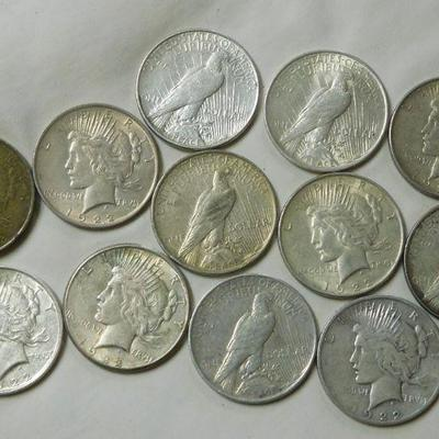 12 1922 Peace Dollars
