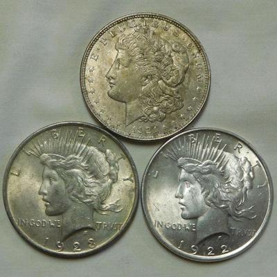 Morgan and Peace Dollars