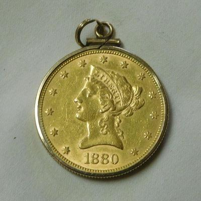 1880 Ten Dollar Gold Piece