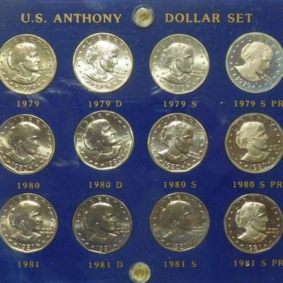 U.S. Anthony Dollar Set