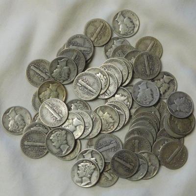 66 Mercury Dimes