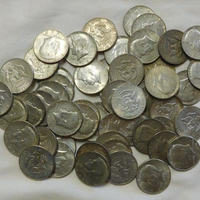 54 Kennedy Halves - 40% Silver