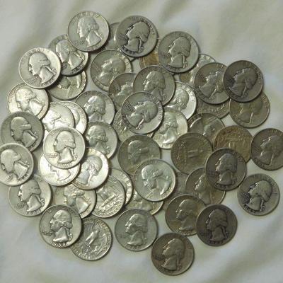 51 Washington Silver Quarters