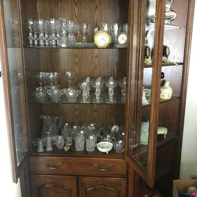 Cabinet filled with Crystal Stemware