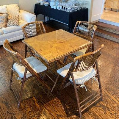 Coastal Dining Bamboo Table & Chairs
