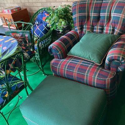 Like a big hug, this chair and ottoman.
