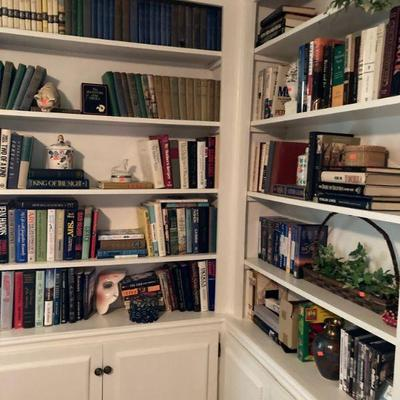 Nice to have a library in your bedroom.