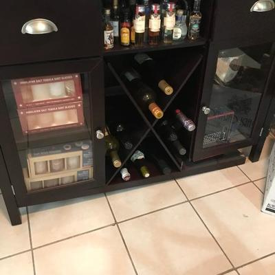 NO ALCOHOL IS FOR SALE, ONLY BAR CABINET IS FOR SALE.