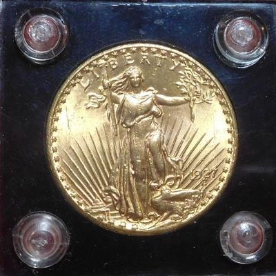 1927 20 Dollar Gold Coin