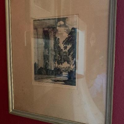 Stone lithography by Alabamian Doris Alexander Thompson