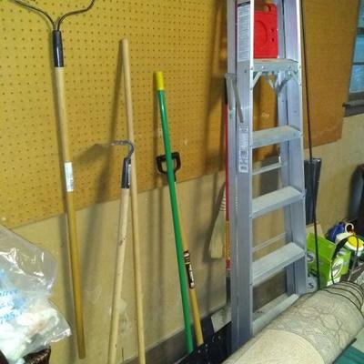hand tools$5.00 ea, step ladder $30.00